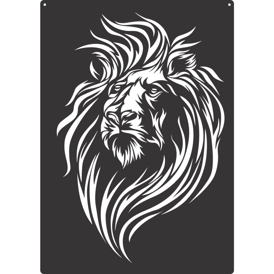 Lion Cutout AJD Designs Homestore Black paper drawing