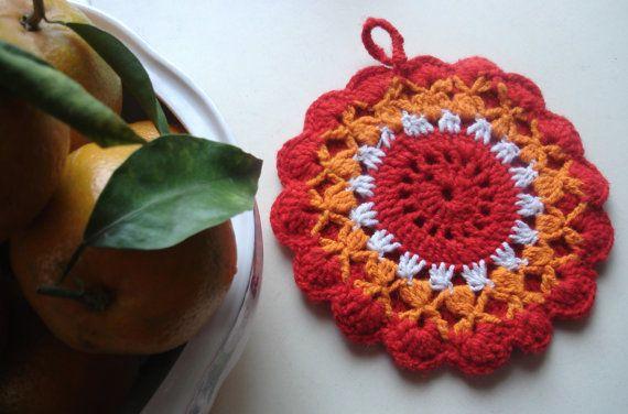Crochet PDF pattern for Fiery Flower by Thehobbyhopper on Etsy, $4.00