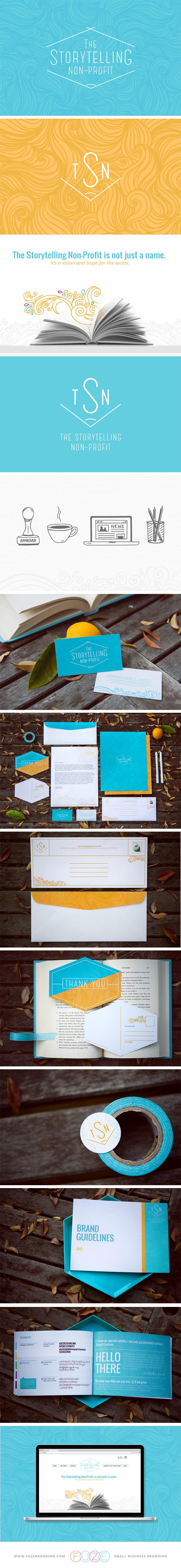 Fuze Branding The Storytelling Non Profit Branding Design Logo Charity Branding Brand Identity Design