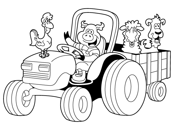 Tractor Coloring Pages | Draw Coloring Pages | coloring pages ...