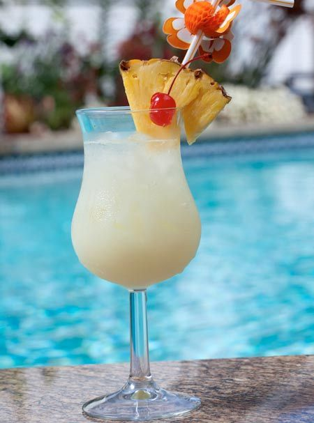 Caribbean Cocktail - Pina Colada -- A cool drink on a hot day #pinacolada #Mexico #cocktail laspalmassauces.com