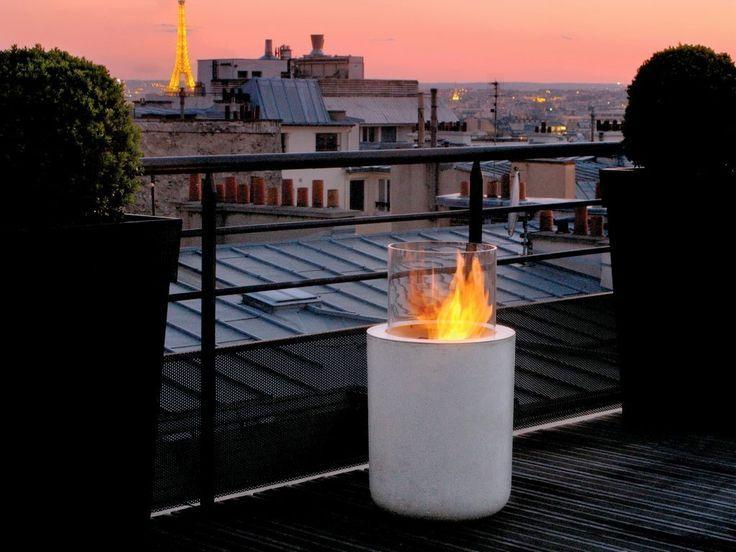 Biokamin Auf Der Hochterrasse Oder Auf Dem Balkon Feuerstelle Garten Balkon Gestalten Feuerstelle Pavillon