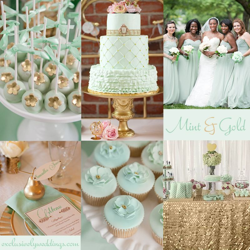 mint green and gold wedding cake add to your wedding with gold 5 dazzling 17443