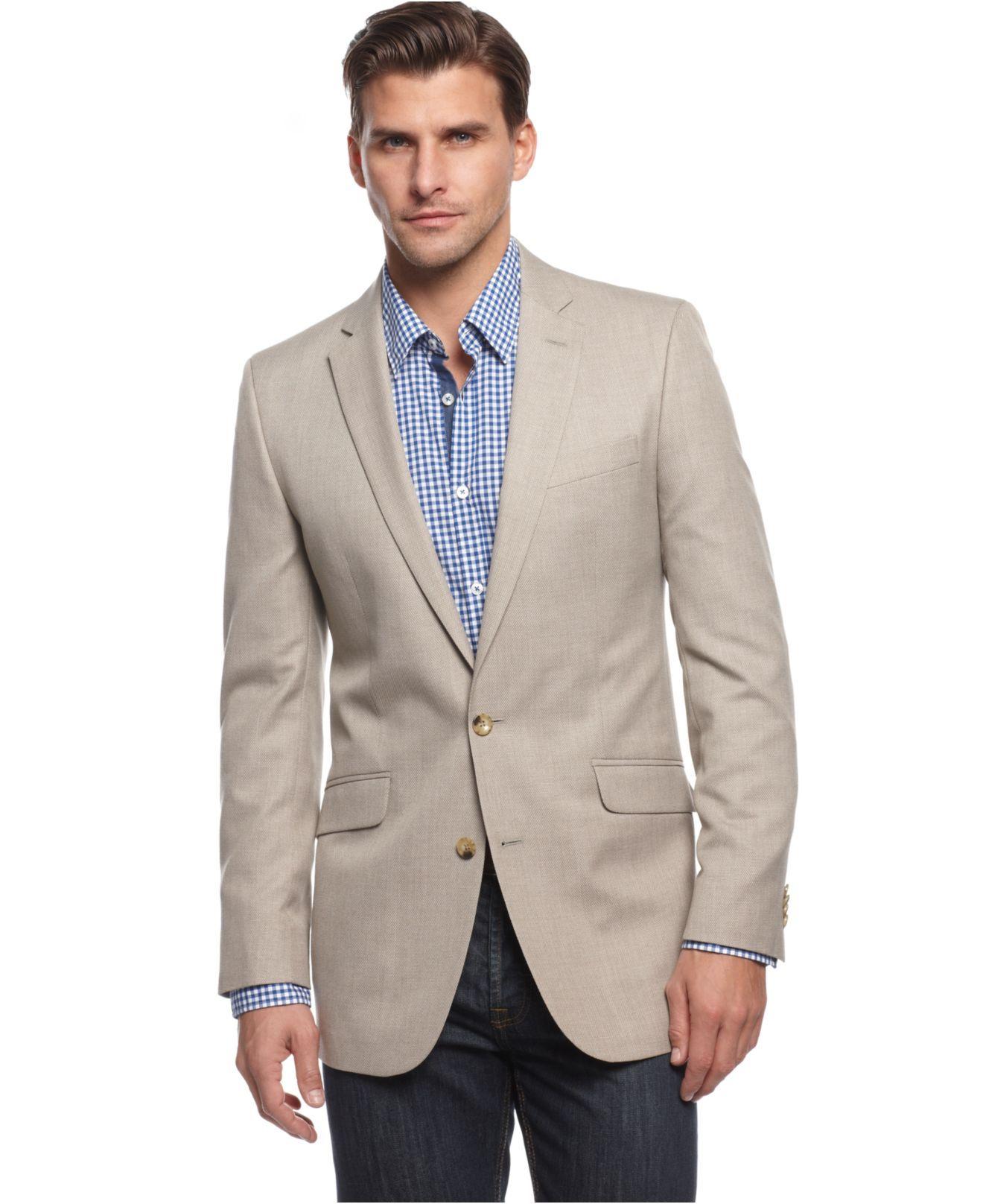 Cole Reaction Jacket, Tan Solid Blazer Mens