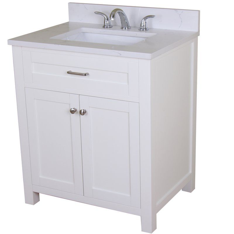 Home Elements F Series White Quartz 30 X 22 Inch Grey 2 Soft Close