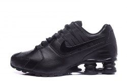 san francisco 49f00 da4b8 High Quality Nike Shox NZ Shox Avenue Lather Triple Black Men s Athletic  Running Shoes