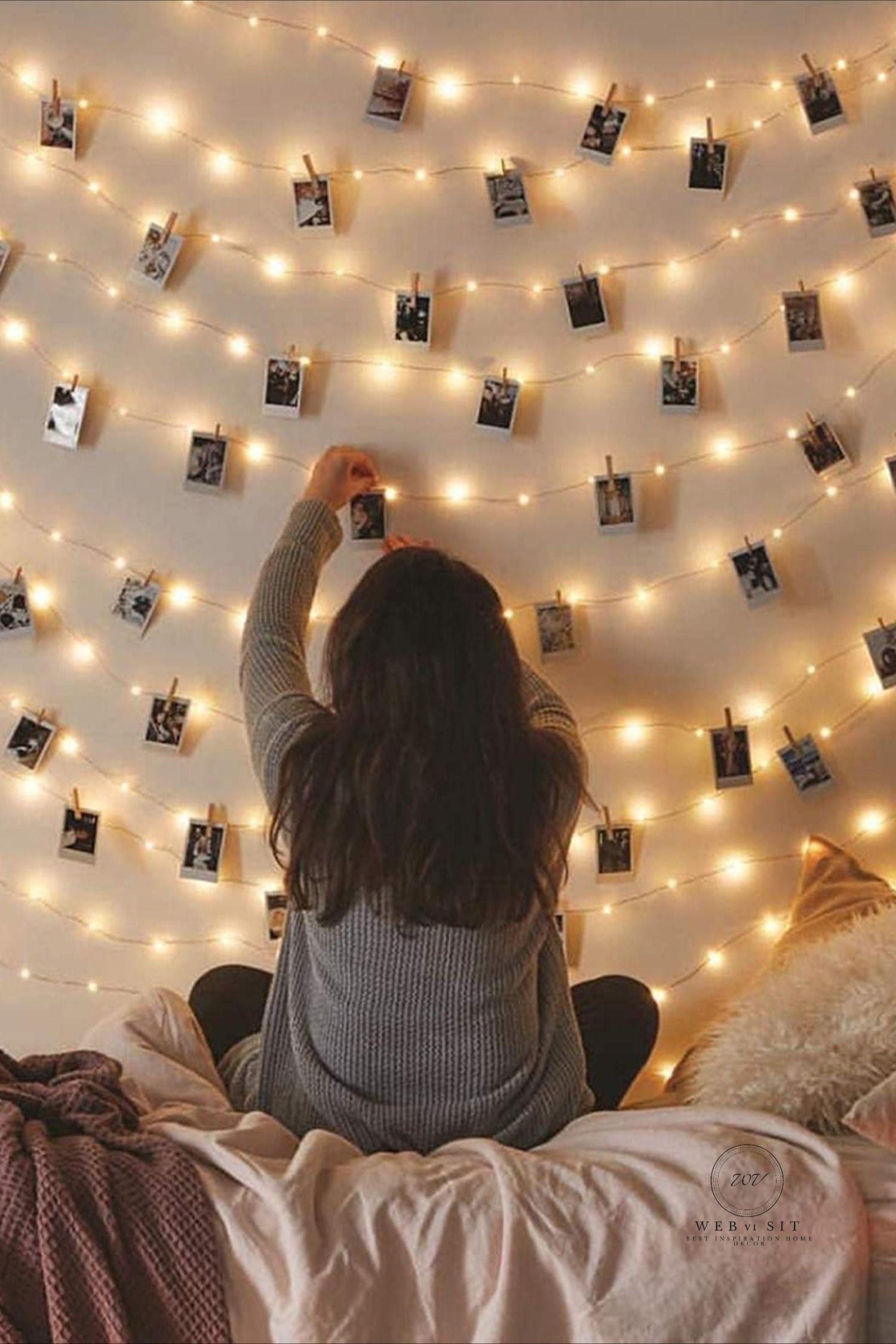 Beautiful Diy Fairy Light For Minimalist Bedroom Decoration Fairy Lights Bedroom Wall Fairy Lights Bedroom Fairy Lights Decor