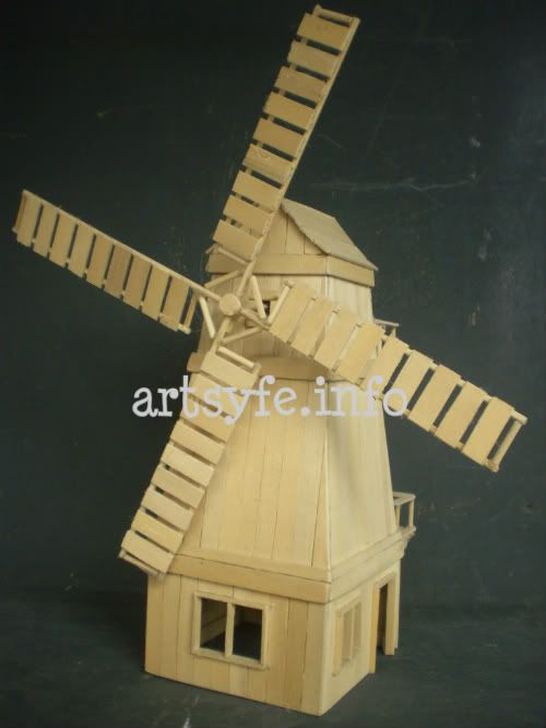 Popsicle stick windmill diy art projects for kids for Ideas for building with popsicle sticks