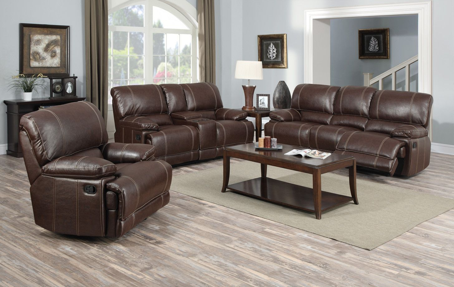 Leather Reclining Living Room Set  Room Set Room And Living Rooms Pleasing Living Rooms Sets Decorating Inspiration