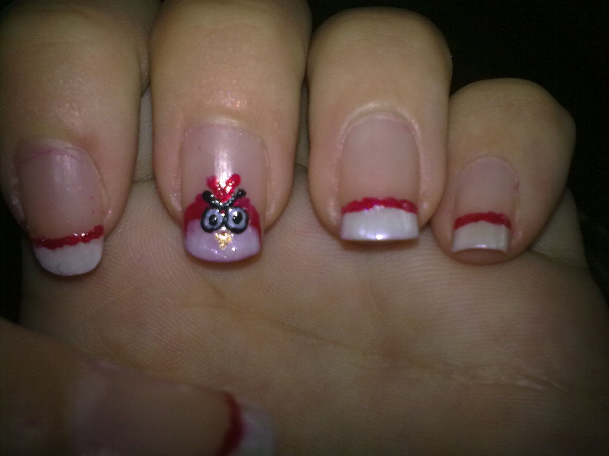 This is an angry bird inspired nail art :D | My Art Nails ...