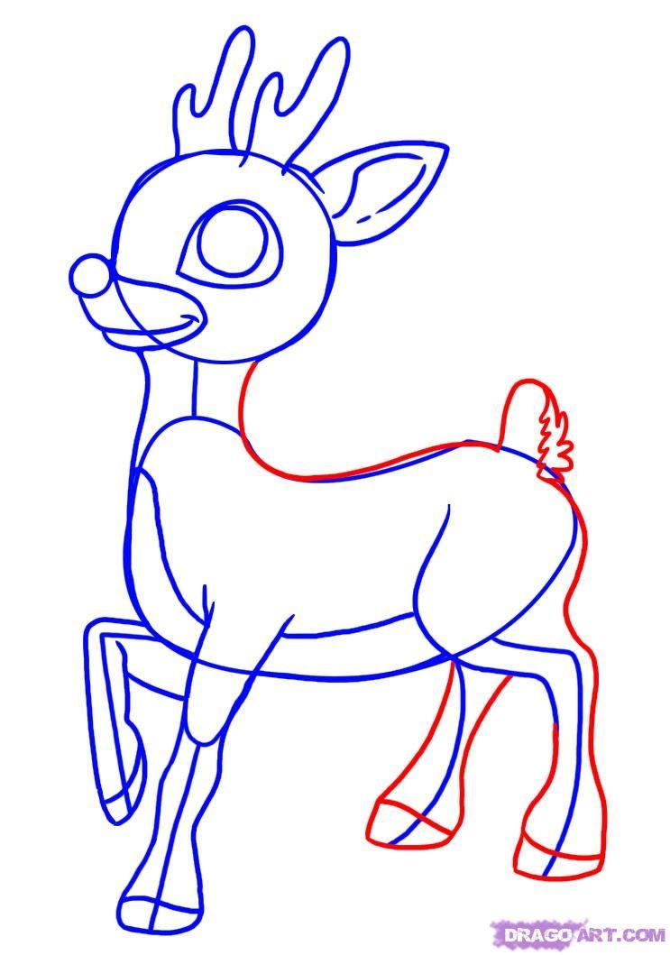 Картинки на новый год олень для срисовки, картинки животными надписями