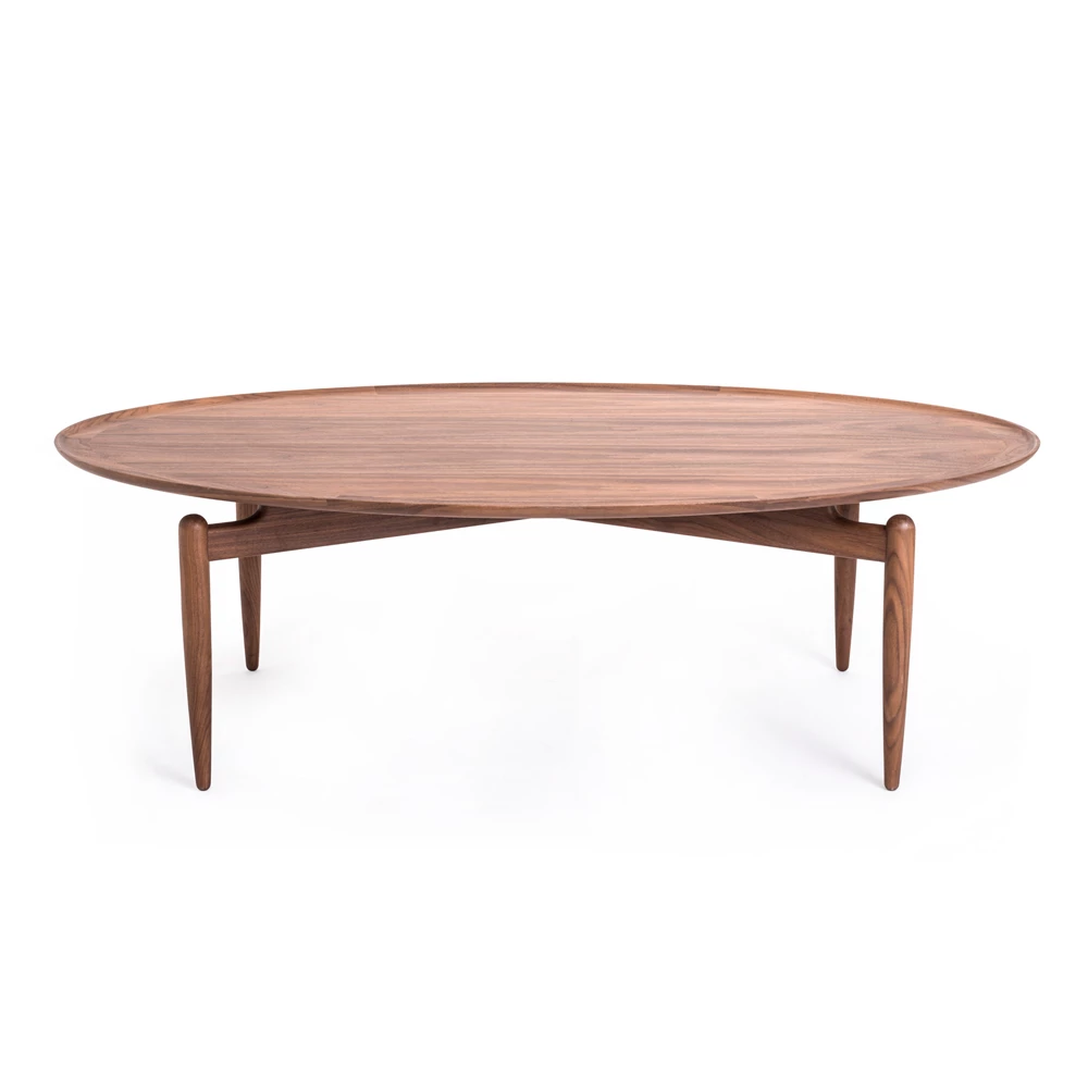 Slow Oval Coffee Table In 2020 Oval Coffee Tables Japanese