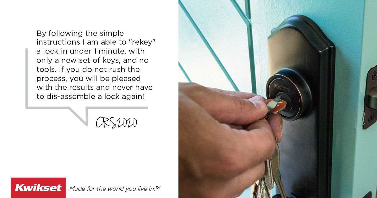 Kwikset's SmartKey Rekey Technology enables homeowners to