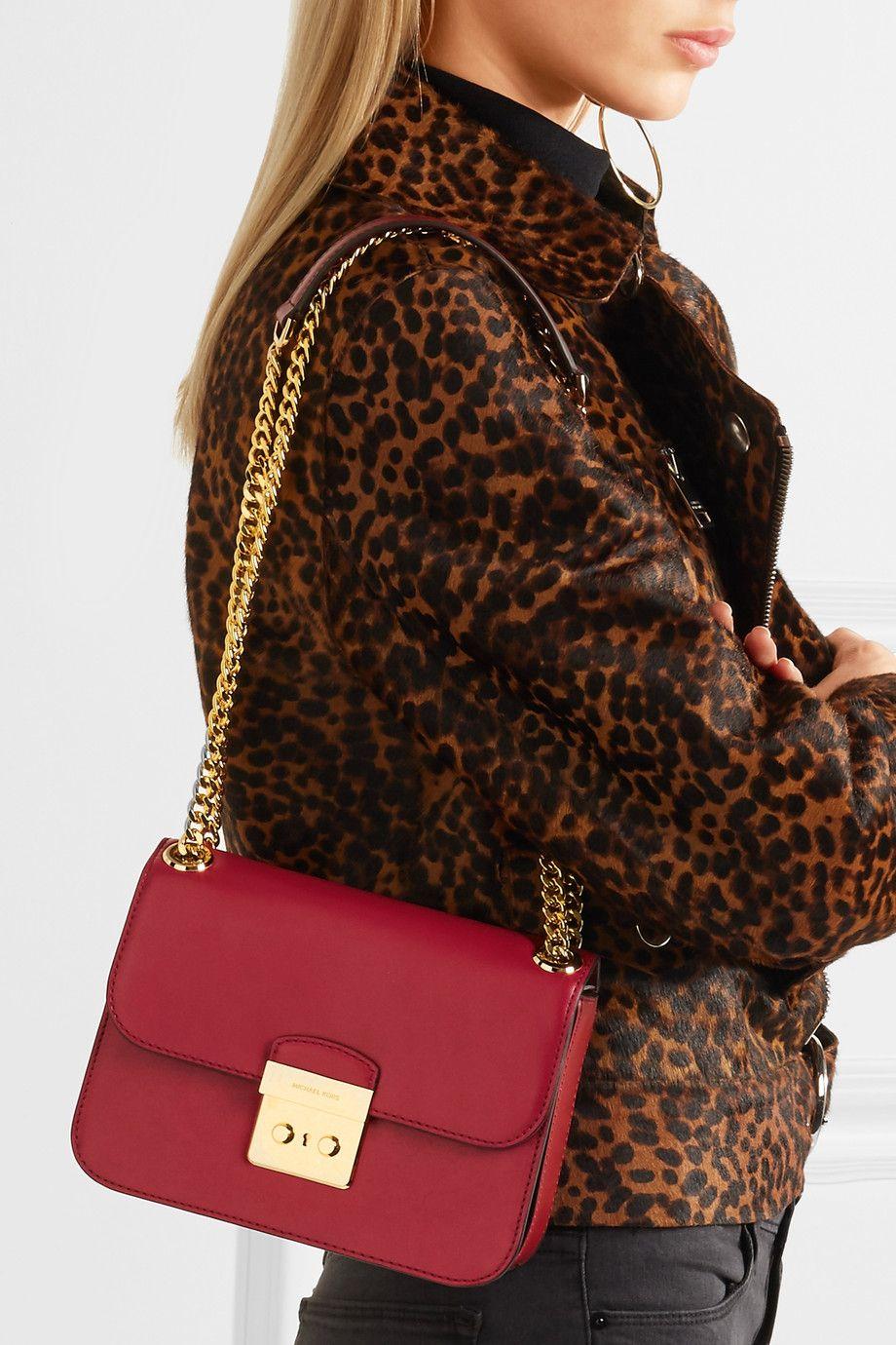 fe9c96a096e10a MICHAEL Michael Kors | Sloan Editor leather shoulder bag | NET-A-PORTER.COM
