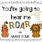 """""""You're going to hear us ROAR in the Twenty..One...Four!!!"""" This is such a fun alternative to typical Back to School Projects. In this craftivity, ..."""