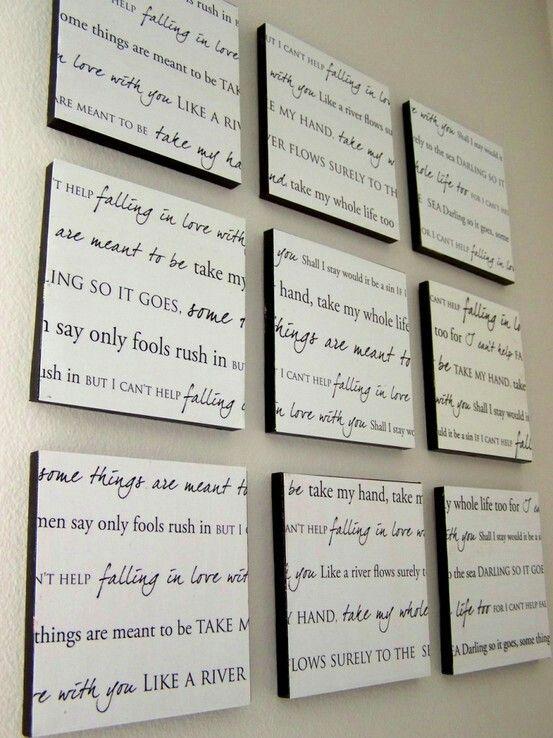 Pin By Maria Gavin On For The Home Home Diy Wedding Lyrics Home Decor