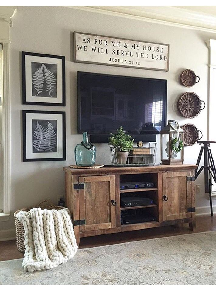 Tv Stand With Blanket Basket