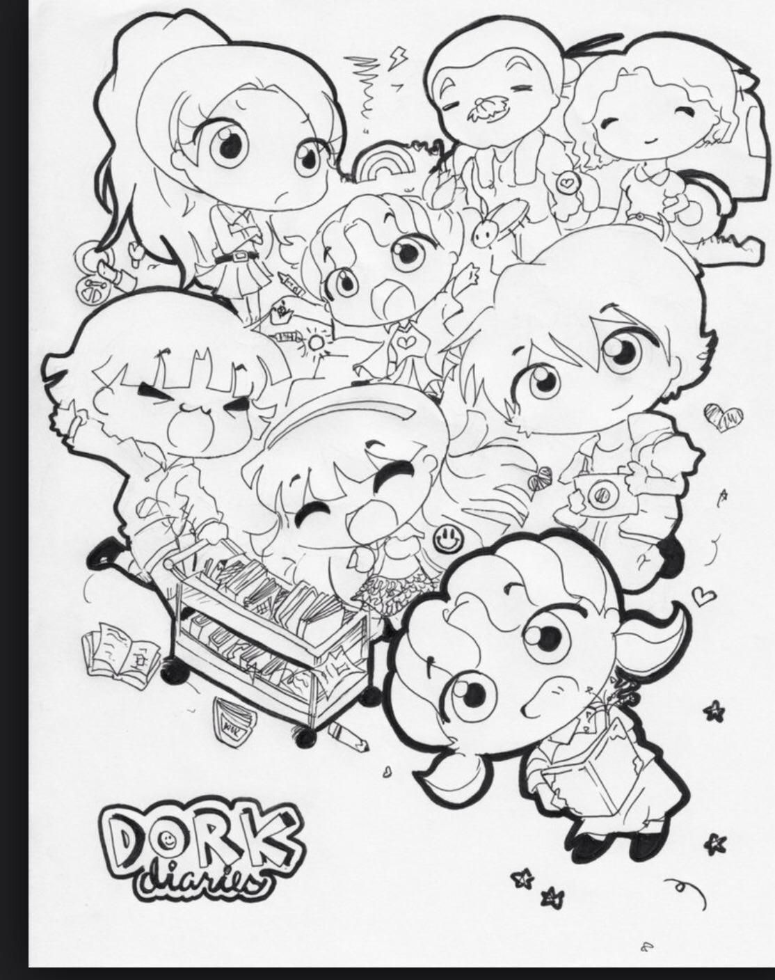 Coloring pages for dork diaries - What Dork Diaries Character Are You 1