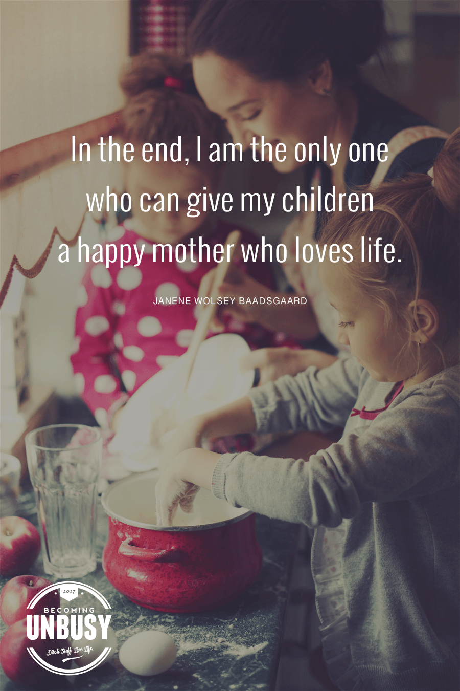 In the end, I am the only one who can give my children a happy