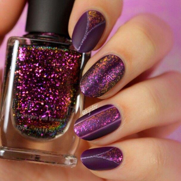 Hexagon Glitter Nail Art Pinterest Nails Inspiration
