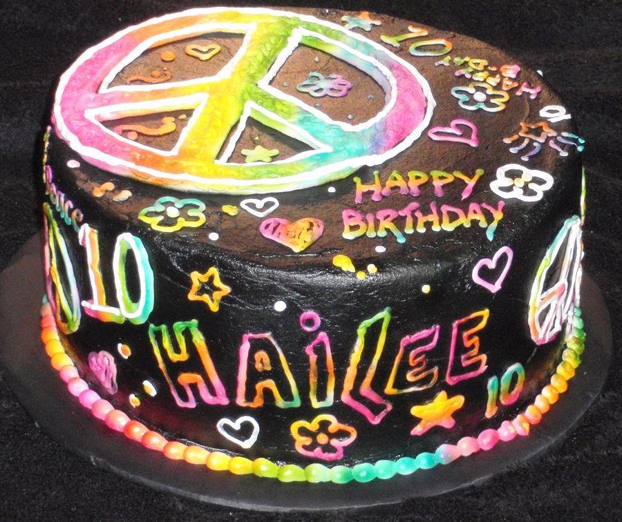 In Neon Doodle Album Childrens Birthday Cakes Cakes Pinterest - Neon birthday party cakes
