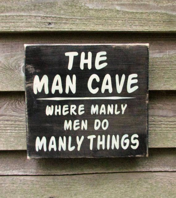 man cave sign, gift for dad, gift for grandpa, primitive rustic home decor, hand painted wood sign, images