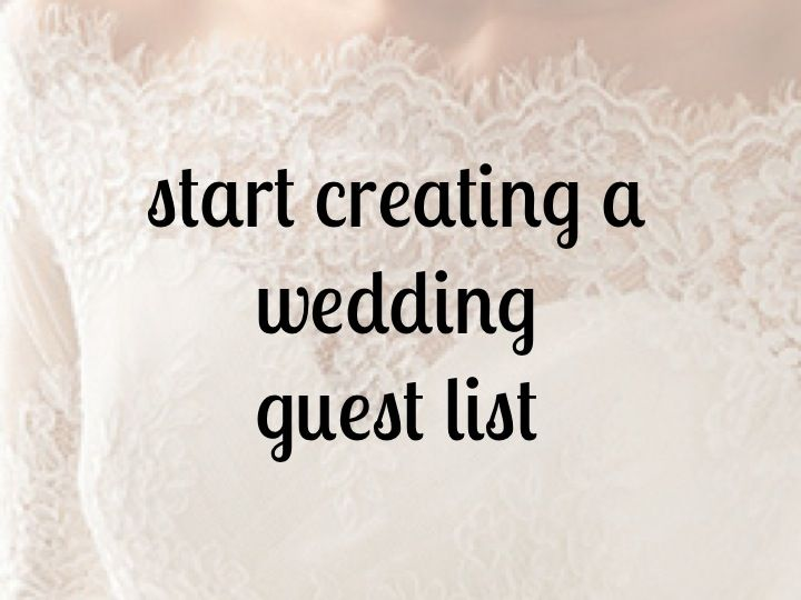 how to start creating a guest list | bexbernard.com This site is a godsent