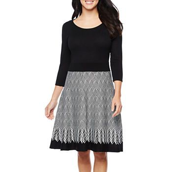 4f12a1c67d0f 3/4 Sleeve Dresses for Women - JCPenney | Modest Is Beautiful ...