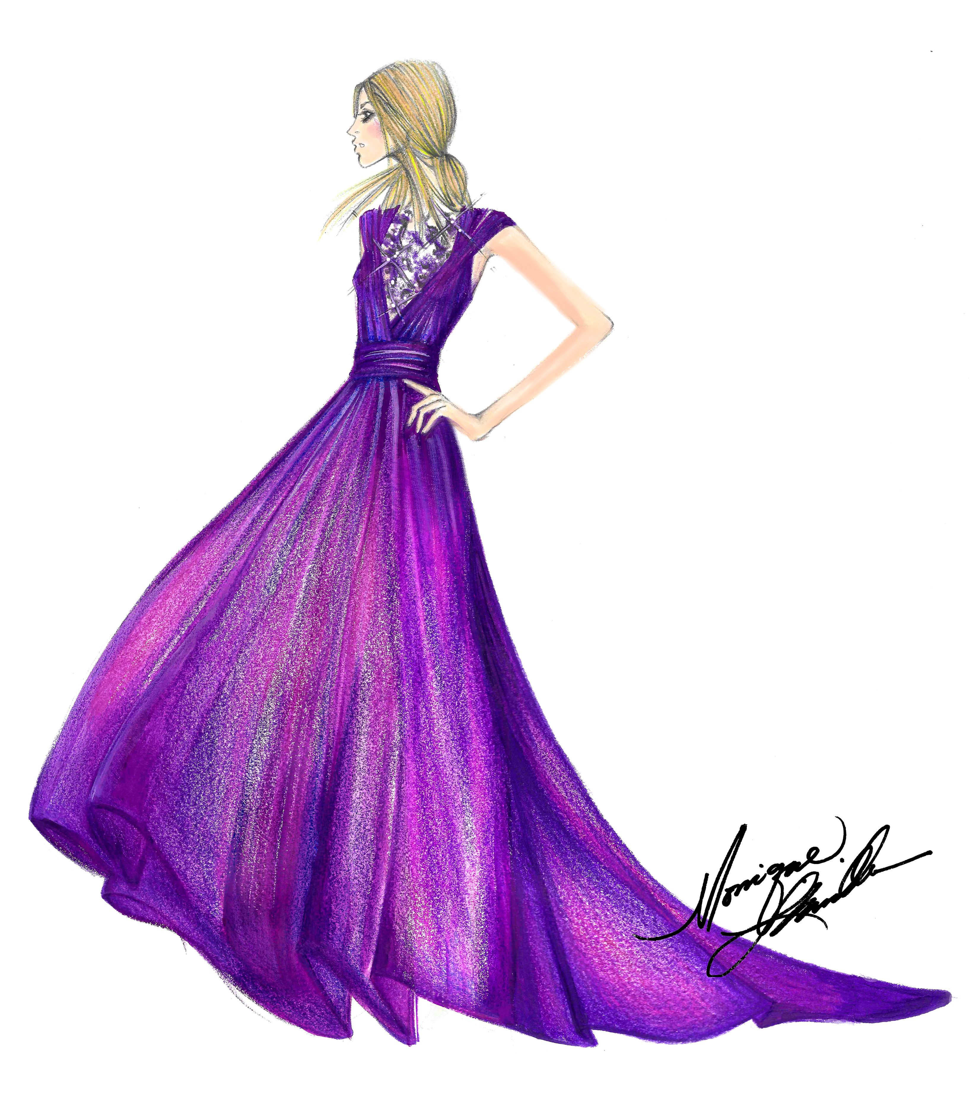Monique Lhuillier Fall 2015 RTW Collection sketch