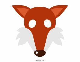 Fox Mask Templates Including A Coloring Page Version Of The Free Printable PDF At Maskspot Download
