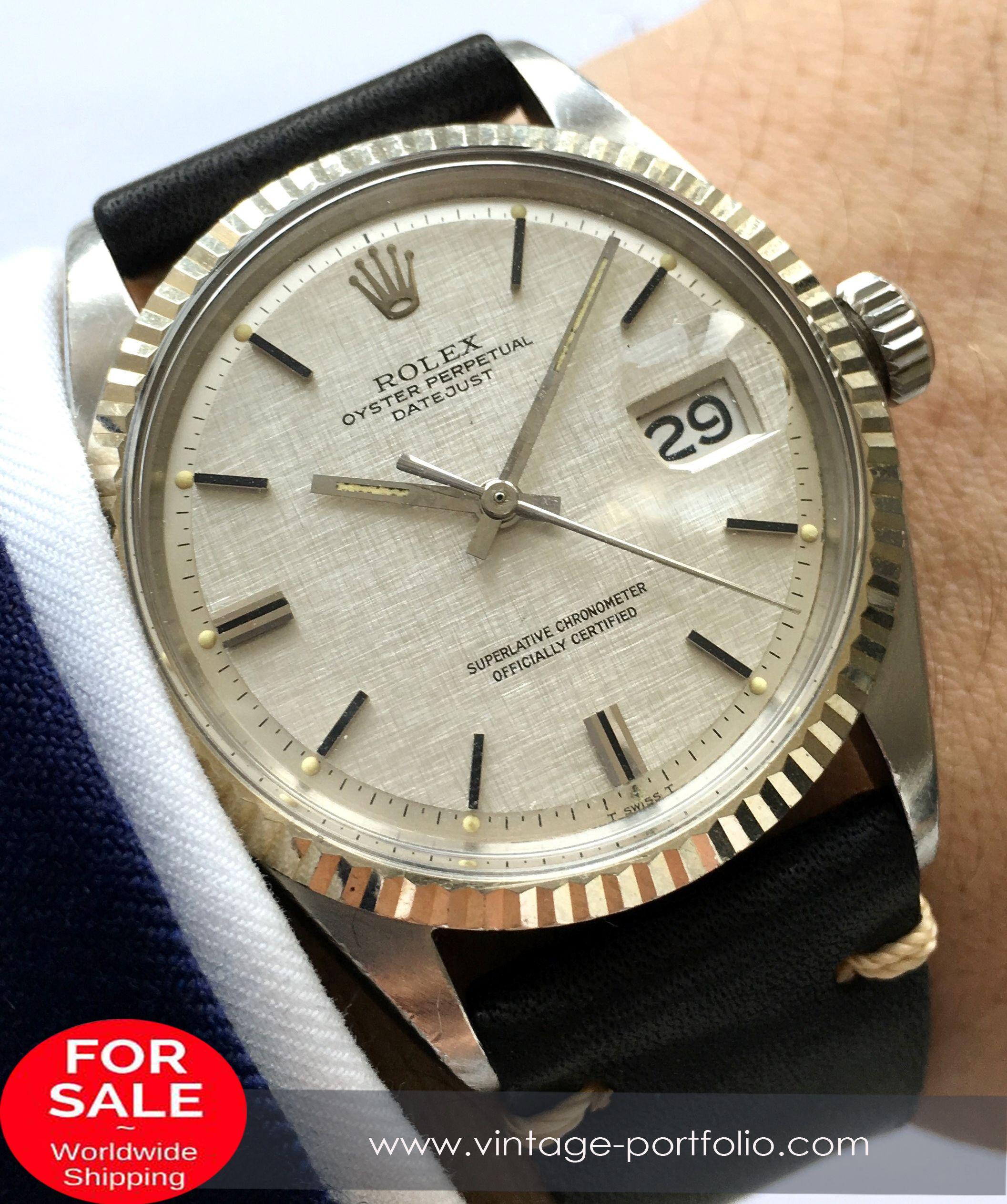 Serviced Rolex Datejust Automatik With Amazing Silver Linen Dial And Vintage Strap Rolex Timepiece Rolexoff Vintage Watches Best Looking Watches Rolex Men