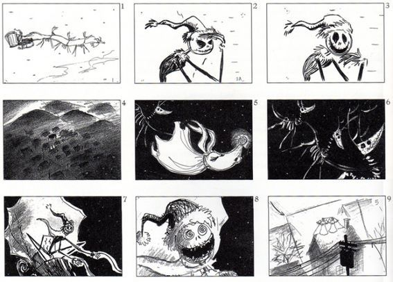 Nightmare Before Christmas Storyboards  Nightmare Before