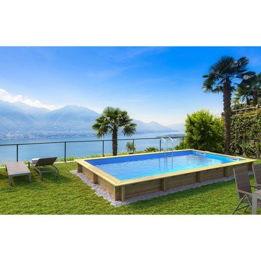piscine hors sol bois weva procopi rectangulaire