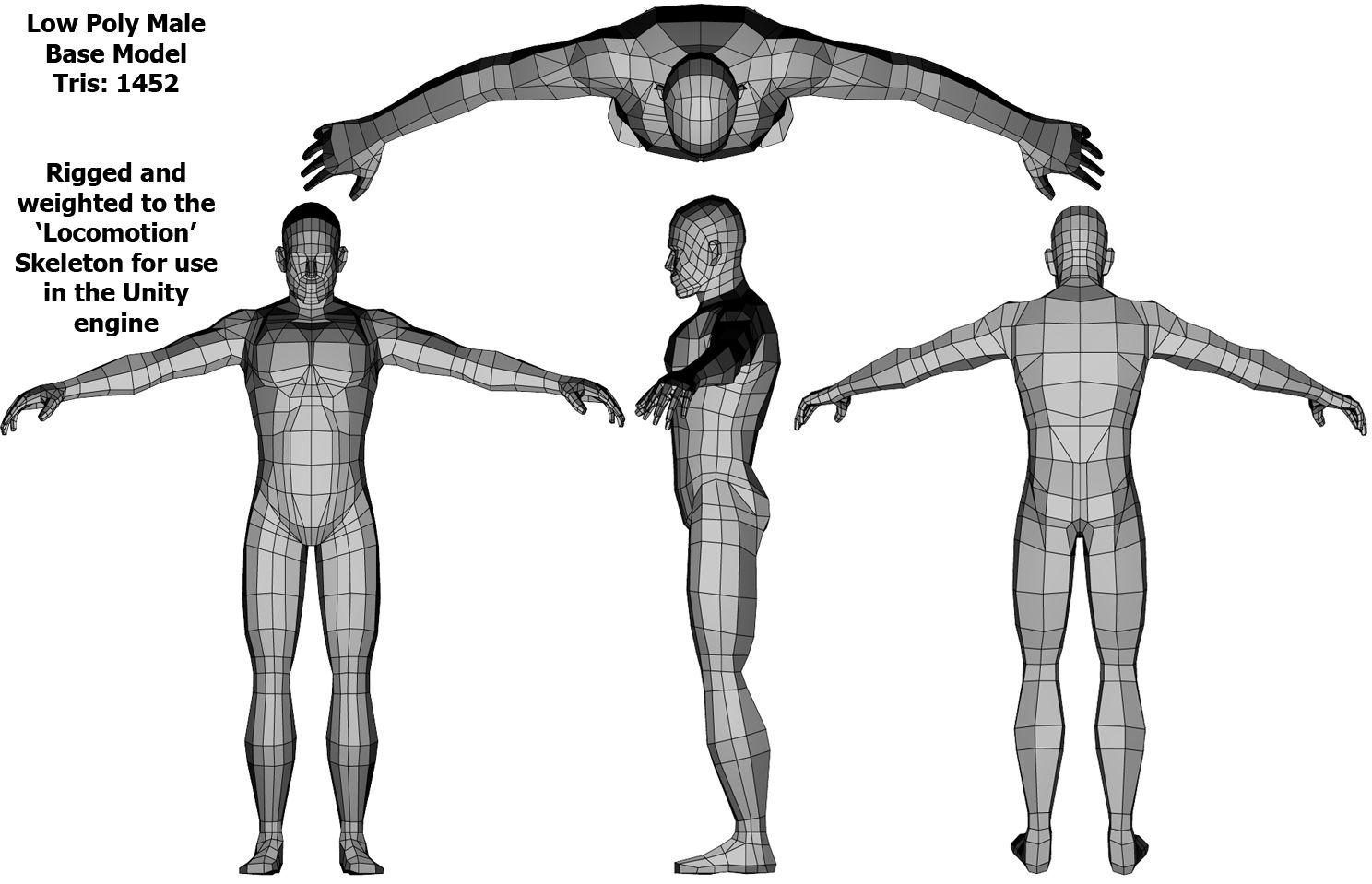 male model low poly | 3D - Skeleton/technique | Pinterest | Low poly ...
