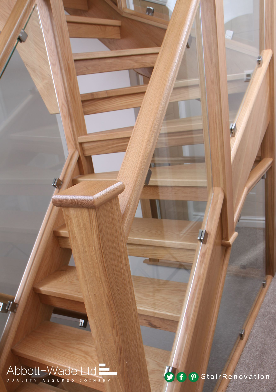 Best A Modern Bespoke Oak And Glass Staircase Glass 640 x 480