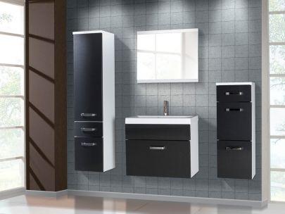 komplettbad nassau bestehend aus 1 eckiges waschbecken aus keramik 1 unterschrank 1 spiegel 2. Black Bedroom Furniture Sets. Home Design Ideas