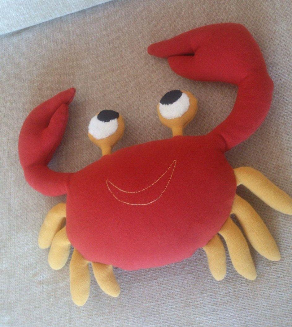 Animal Pillow Decorative Animal Pillow Plush Crab Crab Pillow