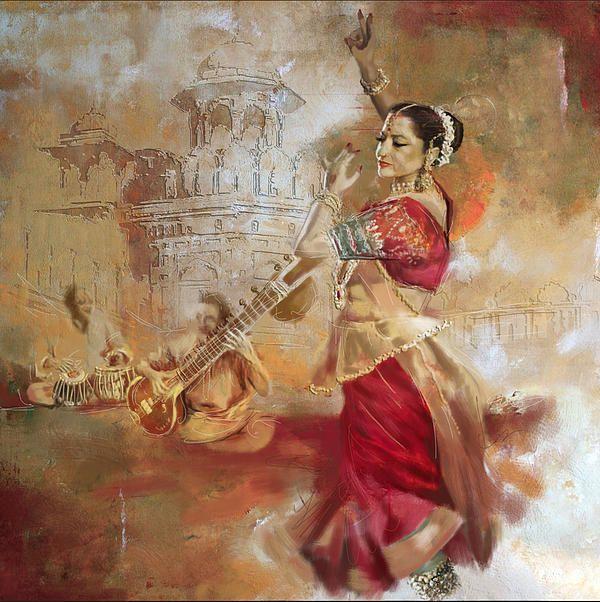 Dancer 12 India Art Dancing Drawings Corporate Art