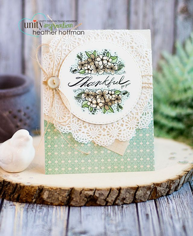 Houses Built of Cards: Thankful for You - Unity Stamp of the Week