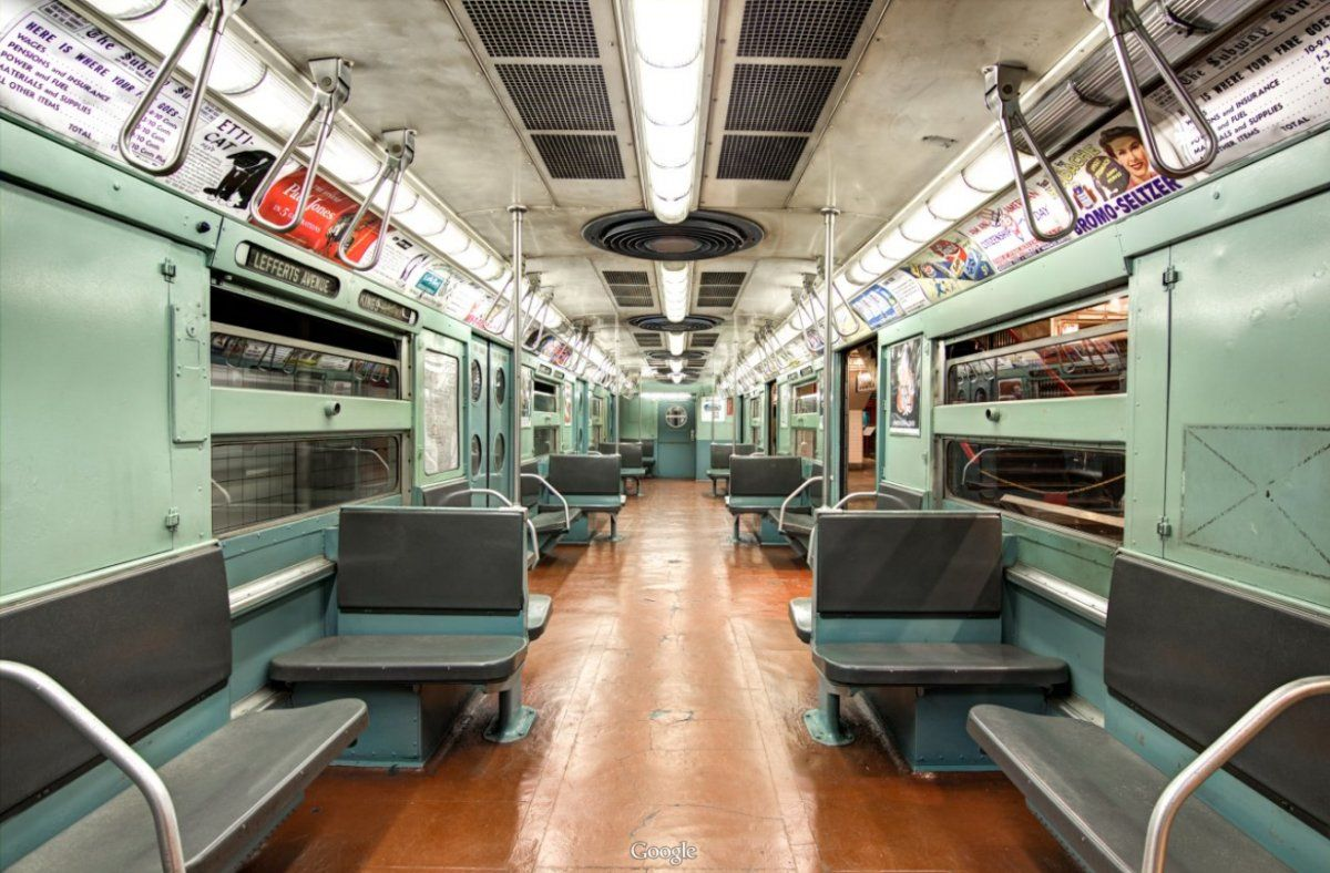 As New York's subway system evolved, fabric seat covers were replaced by plastic.