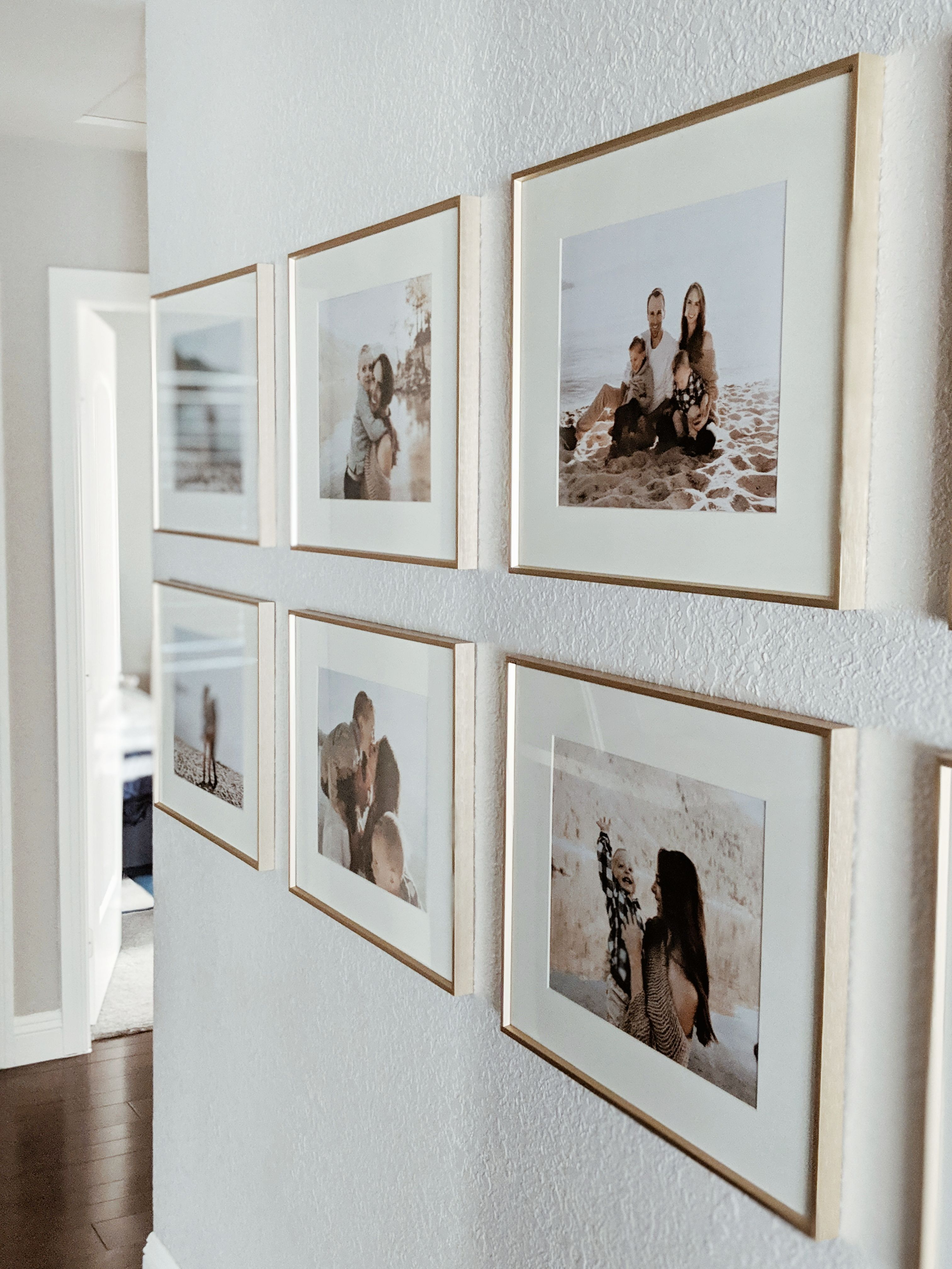 Get this sleek, minimal, and modern looking gallery wall all from Amazon. Affordable frames that look like they were custom made. These budget-friendly frames can dress up and decorate any large wall in your house. They make for a beautiful and uniformed looking gallery wall when paired with one another.
