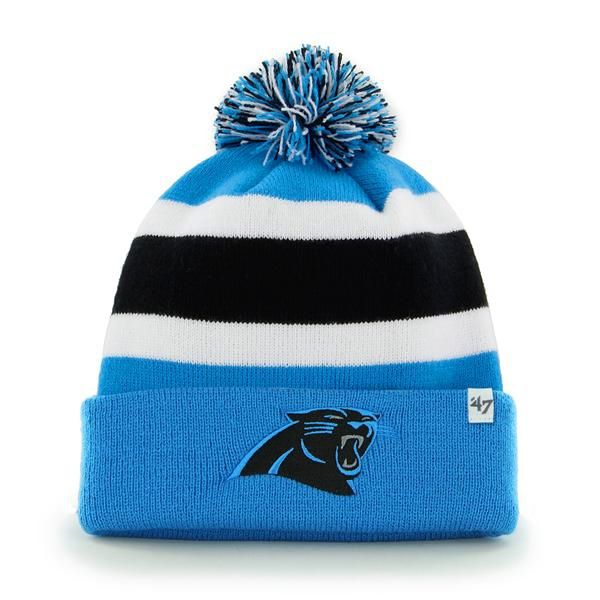 Carolina Panthers Breakaway Cuff Knit Glacier Blue 47 Brand Hat ... f507d3886