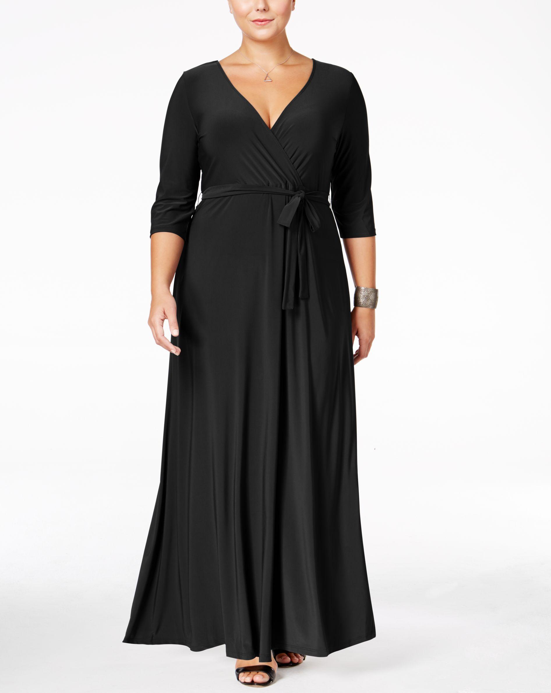 Love Squared Plus Size Faux Wrap Maxi Dress Maxi Dress Maxi Wrap Dress Plus Size Maxi Dresses [ 2378 x 1892 Pixel ]