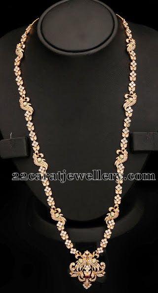 Simple Parrot Design Diamond Long Sets Gold Jewelry Fashion Diamond Jewelry