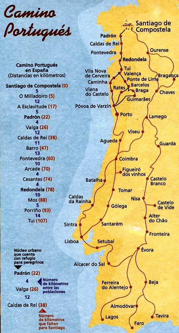 Compostelle Chemin Portugais Portugal Tourisme Voyage Portugal