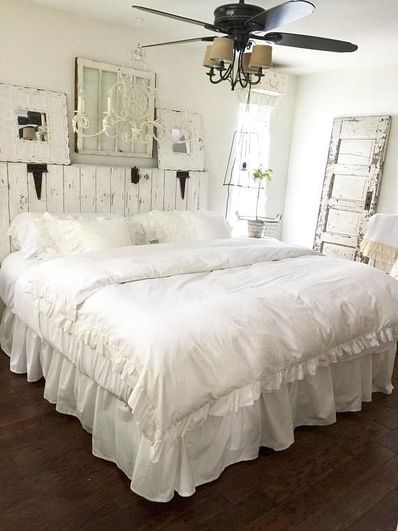 5 piece Farmhouse Bedding Shabby Chic Bedding Ruffled | Rebuild ...