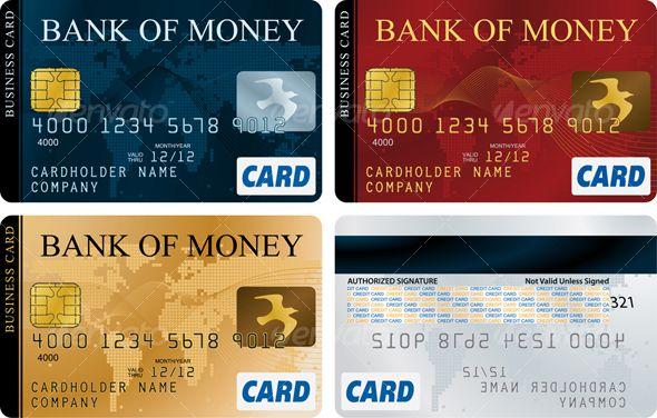 Credit Cards Vector design, Font logo and Fonts