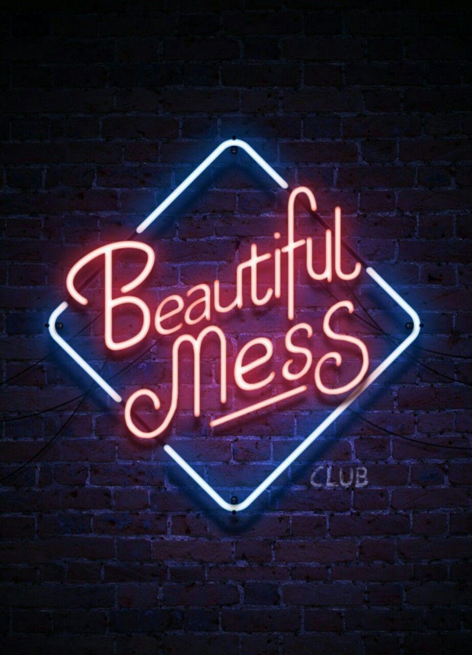 Instagram Neon Quotes Wallpaper