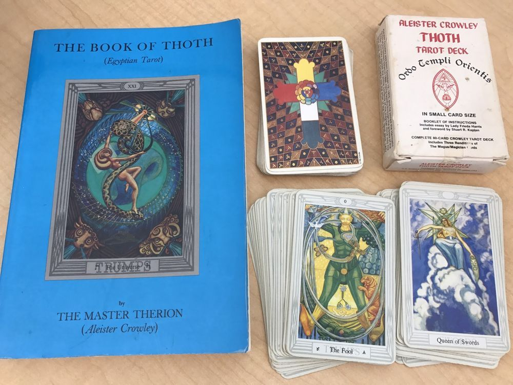 Aleister Crowley Book Of Thoth And Vintage Tarot Deck Cards Ordo