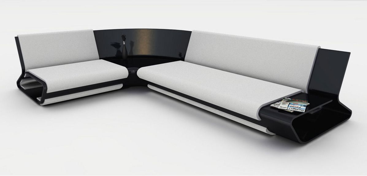 Superbe Sleek Modern Sofa